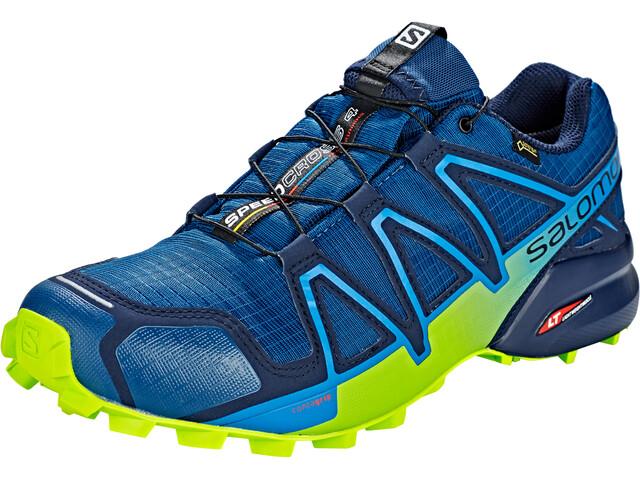 watch 93ab9 8b4ce Salomon Speedcross 4 GTX Shoes Herren poseidon/navy blazer/lime green